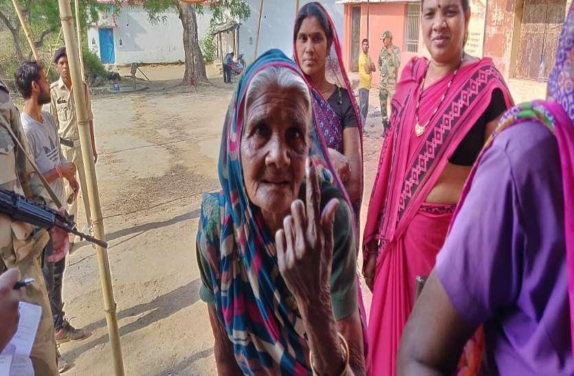 लोकतंत्र का ऐसा उत्साह की वोटिंग लाइन में खड़े होकर 95 साल की बुजुर्ग महिला ने डाला पहला वोट