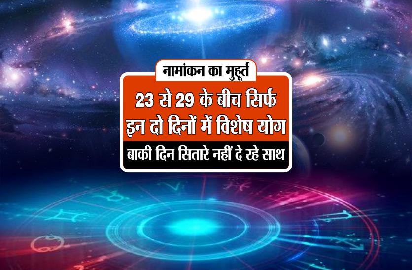 नामांकन का मुहूर्त : 23 से 29 के बीच सिर्फ इन दो दिनों में विशेष योग, बाकी दिन सितारे नहीं दे रहे साथ