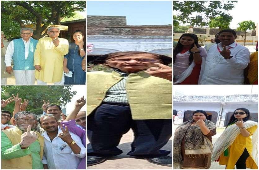 लोकसभा चुनाव: बरेली के दिग्गज नेताओं ने किया मतदान- देखें तस्वीरें