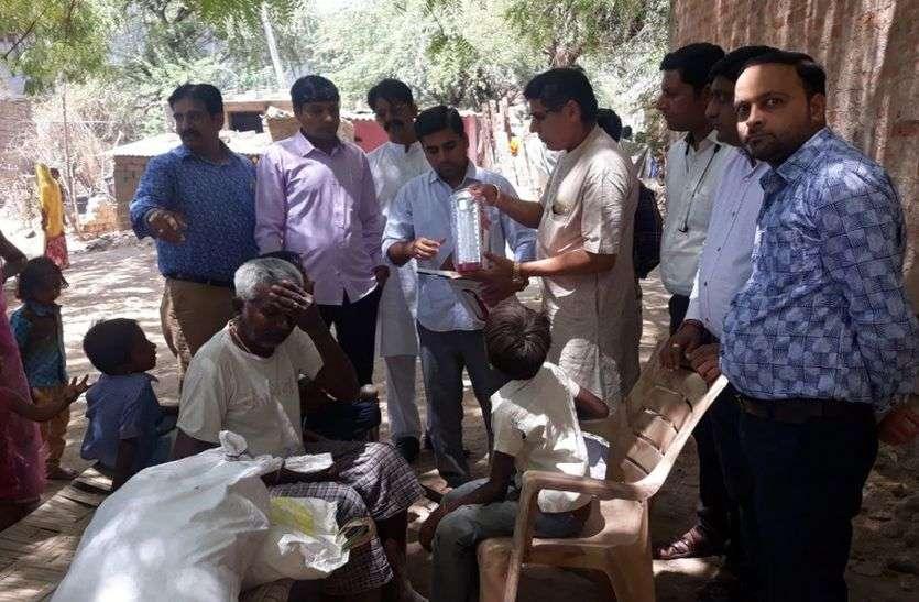 सांचौर के इन दो परिवारों की मदद को आगे आए संगठन