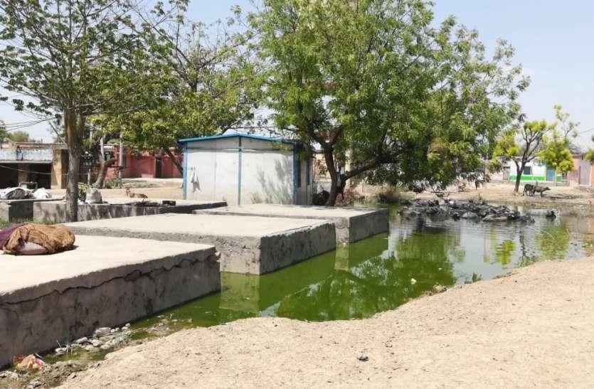 गंदे पानी का भराव,बीमारी फैलने का खतरा