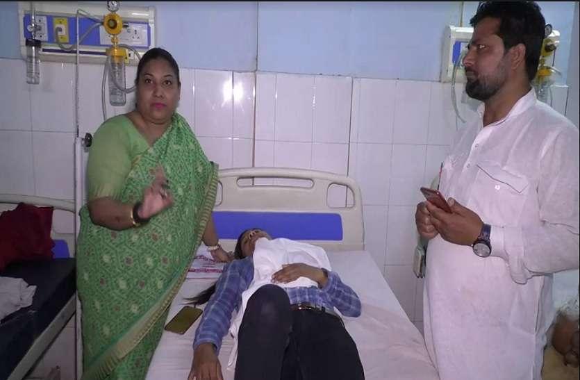 प्रियंका गाँधी की कार से दबकर LIU की महिला घायल, देेखें विडियो