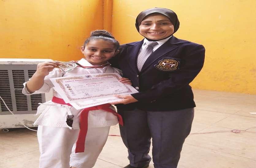 नौ वर्षीय वान्या ने जीता गोल्ड मेडल