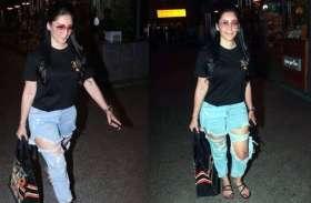 एयरपोर्ट पर फटी जीन्स पहने दिखी संजय दत्त की पत्नी, हाथ में ले रखा था लाखों का बैग
