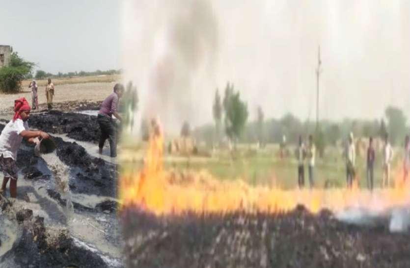 महिला किसान के परिवार पर टूटी बड़ी आफत, गेहूं की फसल जलकर हुई स्वाह, देखें वीडियो