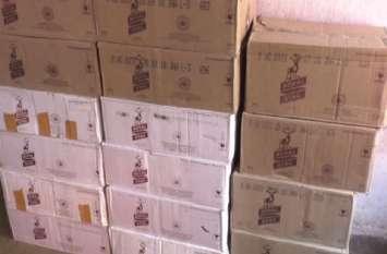 चुनाव में मतदाताओं को बंटने के पहले आबकारी विभाग ने पकड़ी 40 पेटी अवैध शराब