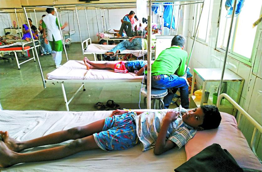 तापमान पंहुचा 43 डिग्री के पार, अस्पतालों में तेजी से बढ़ने लगे उल्टी दस्त के मरीज