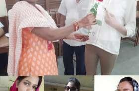 पहला वोट डालने मुंबई से आई वंशिका, ८२ वर्षीय दादा का लेकर पहुंची केंद्र