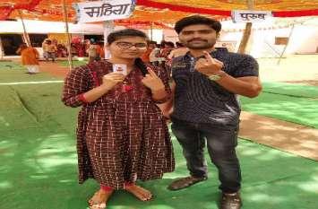 Lok sabha Election Baran  लोकतंत्र के यज्ञ में उत्साह से शुरू हुआ मतदान 11 से पहले ही किया 31  फीसदी लोगों ने मतदान