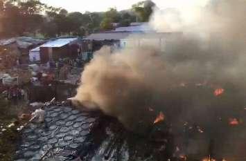 रिहायशी इलाके में खतरनाक काम करने वाले लोगों को दिखाते हैं भाजपा नेता का धौंस