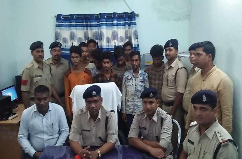 आपसी रंजिश में की थी हिस्ट्रीशीटर बदमाश की हत्या, पुलिस ने 10 आरोपियों को किया गिरफ्तार
