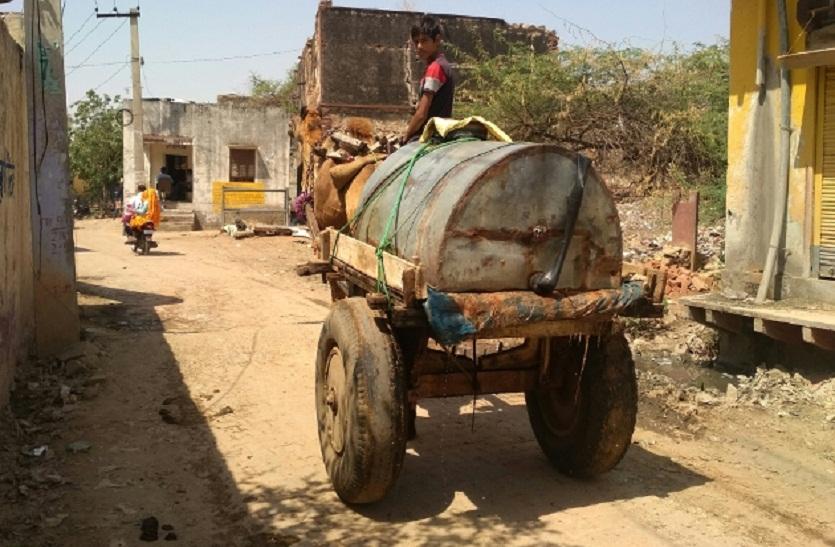 Bharatpur News : आजादी के 70 साल बाद भी भरतपुर के इस गांव में ऊंटगाड़ी से भरकर लाते हैं पेयजल