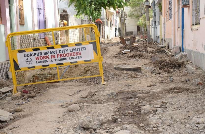 उदयपुर नगर निगम बेखबर, शहर धूल फांकने को मजबूर, जगह-जगह जाम की समस्या