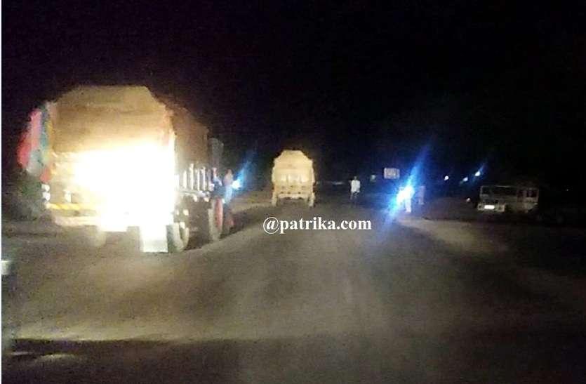VIDEO : शाम ढलते ही अवैध बजरी से भरे वाहनों के संचालन का हो जाता है काम शुरू