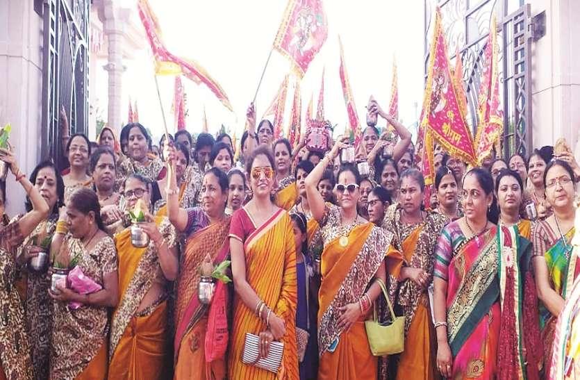 साधु-संतों की निकली शोभा यात्रा, लगे जय परशुराम के नारे