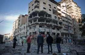 इजरायली हमले में 23 फिलीस्तीनियों की मौत, देखें हमले में तबाह इमारतों का खंडहर