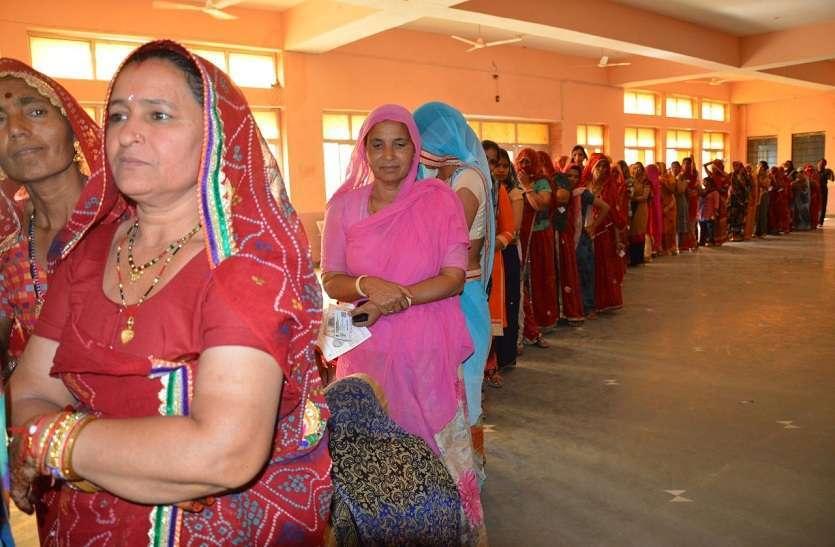 राजस्थान में दूसरे चरण के मतदान में लोगों ने उत्साह दिखाया
