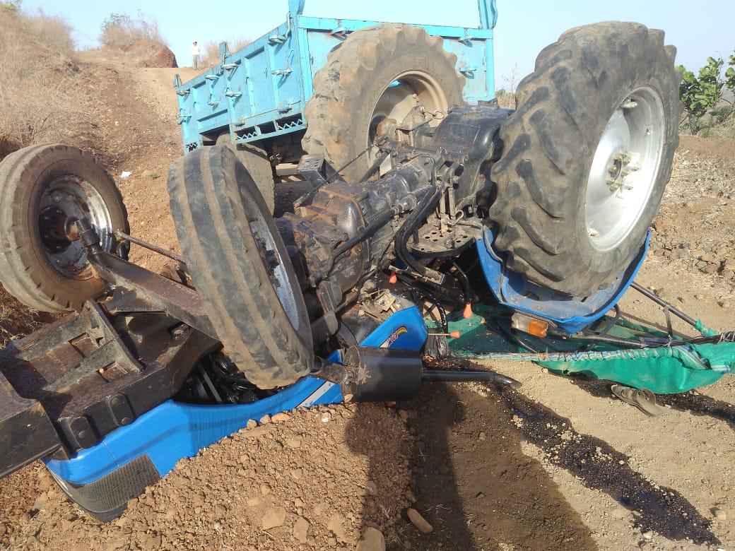पहाड़ी से गिरा ट्रैक्टर, एक की मौत