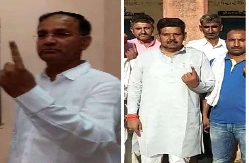 मंत्री भंवरसिंह भाटी व प्रत्याशी मदनगोपाल मेघवाल ने किया मतदान, देखें वीडियो