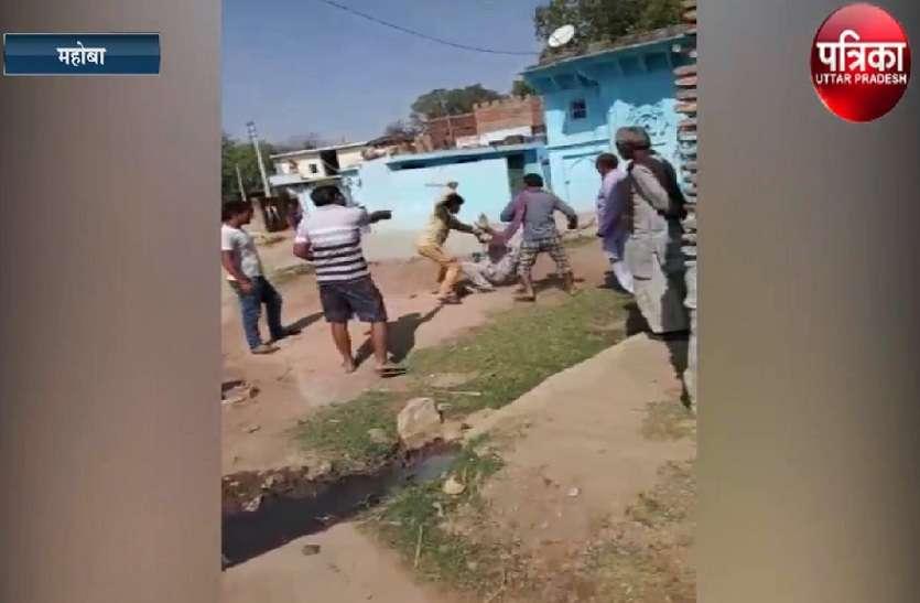महिला से छेड़छाड़ पर युवक की लाइव पिटाई, देखें वीडियो