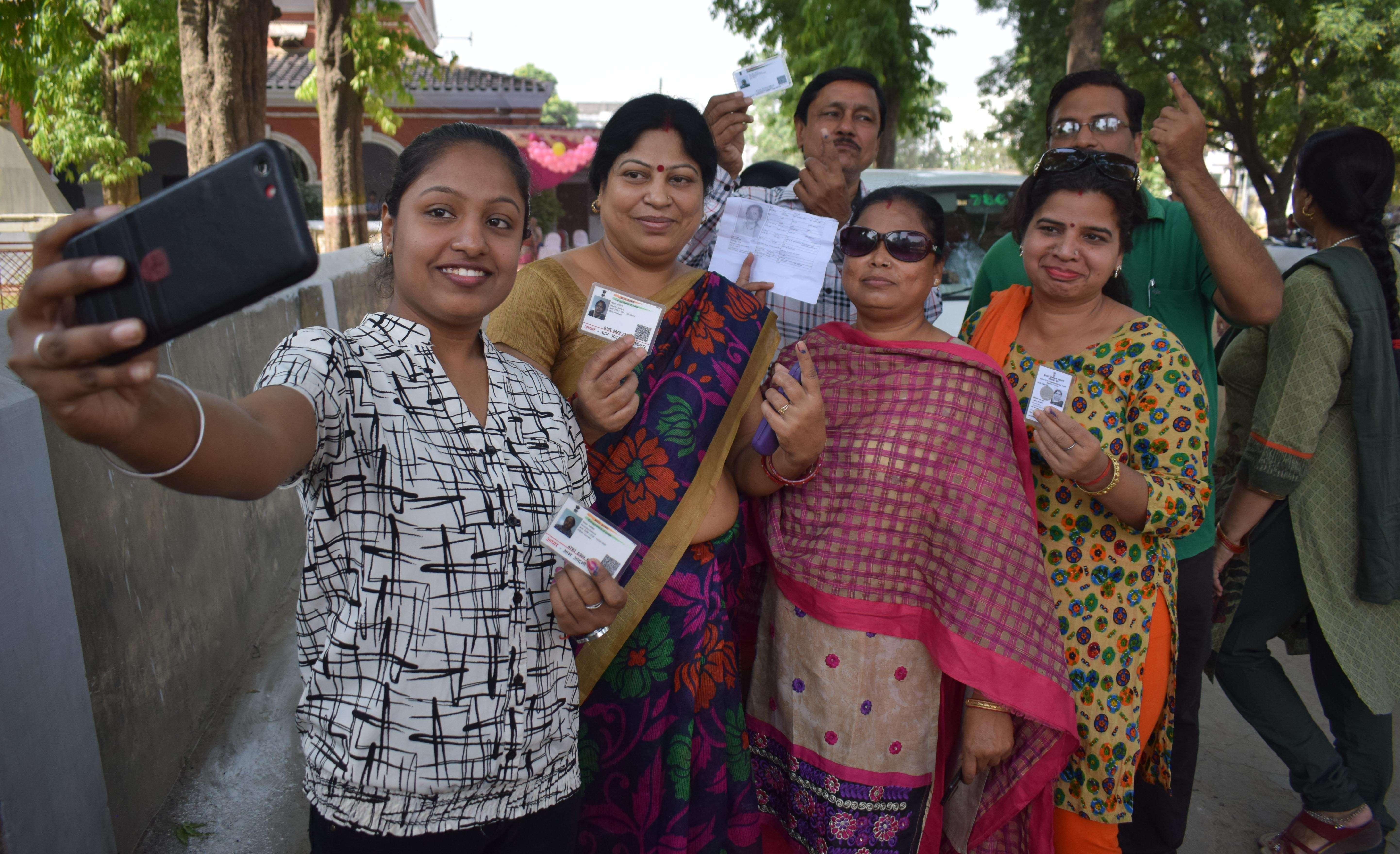 Voting in prayagraj