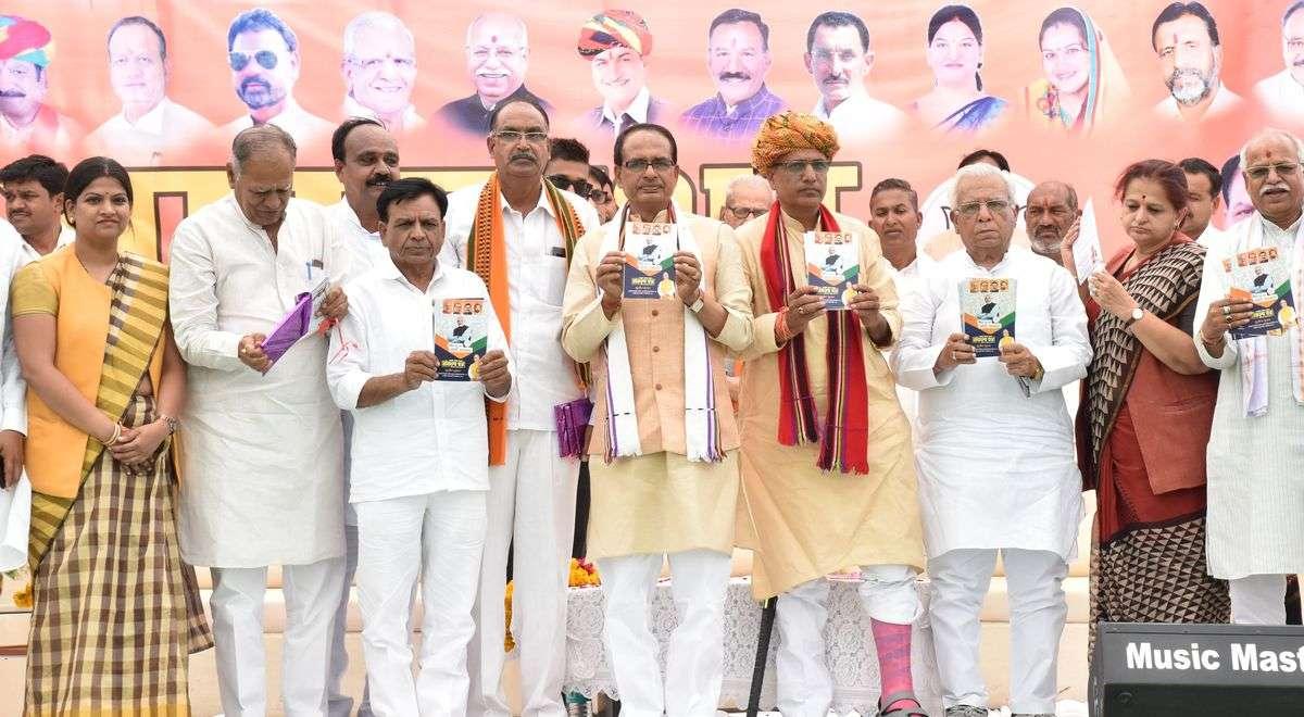 मंदसौर संसदीय क्षेत्रके लिए भाजपा ने जारी किया संकल्प पत्र