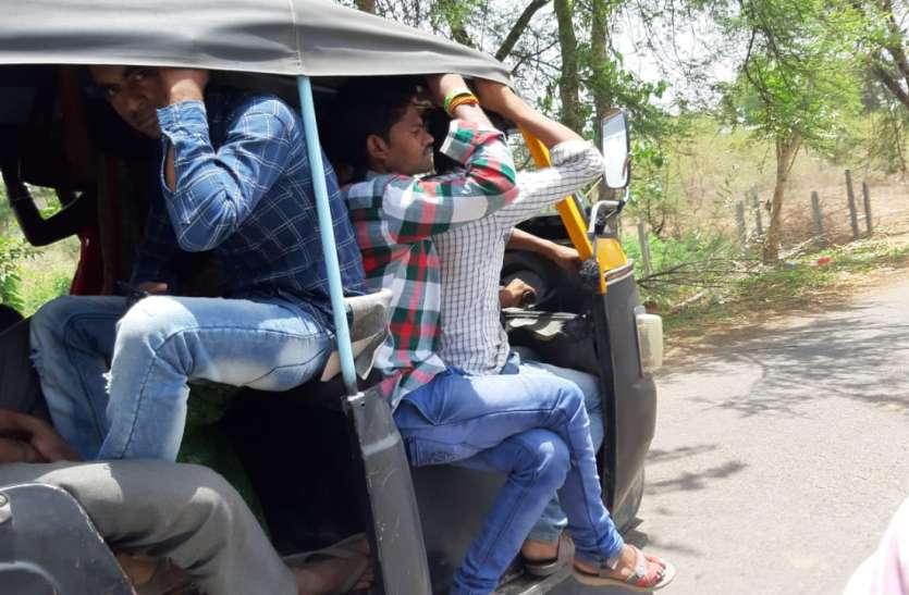 गरधा रोड पर बस हादसे में एक की मौत से भी सबक नहीं ले रहे चालक