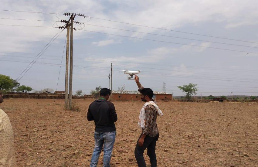 ड्रोन से खोजे विद्युत लाइन के फॉल्ट, सफल रहा परीक्षण