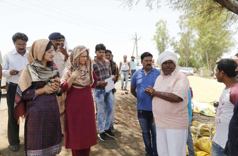कड़ी धूप में किसानों के बीच पहुंचीं कलेक्टर, समस्याएं सुनीं