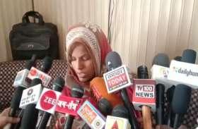 VIDEO: बसपा नेता पति पर महिला ने लगाया जान में मारने का आरोप, केरोसिन में भीगी इस हालत में महिला पहुंची थाने