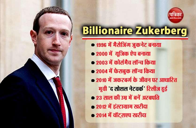 4.90 लाख करोड़ के मालिक हैं सोशल मीडिया के किंग मार्क जकरबर्ग, 16 की उम्र में बनाया था म्यूजिक ऐप