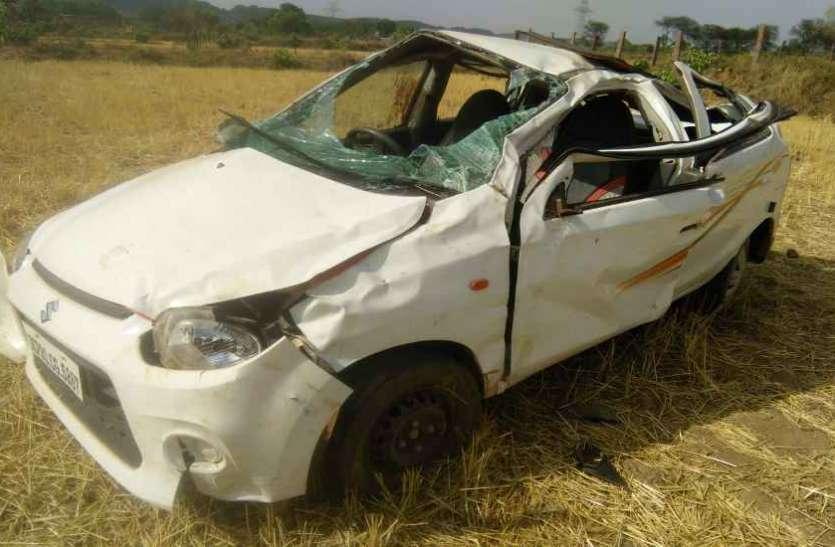 कार व डंपर की जोरदार टक्कर में 2 लोगों की दर्दनाक मौत, दो गंभीर घायल, मानसिक रोगी के इलाज के लिए जा रहे थे जयपुर