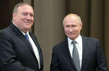 अमरीकी विदेश मंत्री पोम्पियो ने राष्ट्रपति पुतिन से की मुलाकात, अमरीका-रूस संबंधों को बहाल करने पर दिया बल