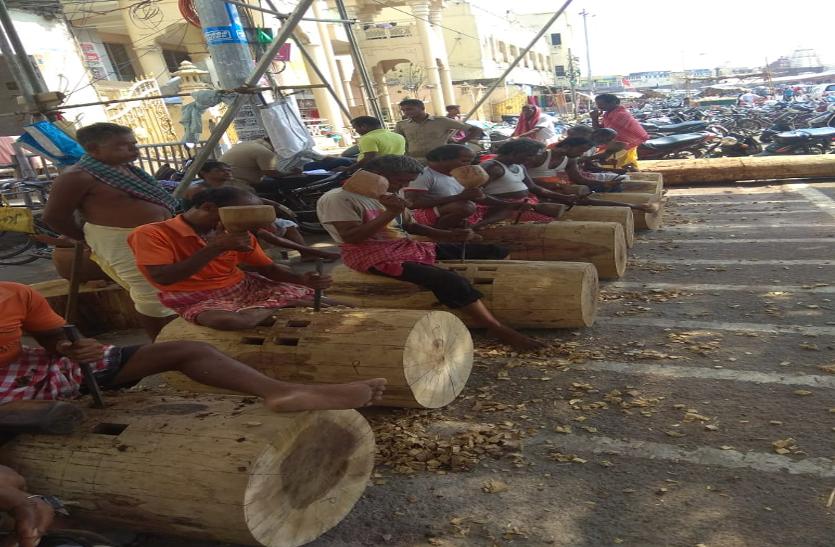 आस्था के आगे तू'फानी' आपदा ने घुटने टेके, जगन्नाथ रथयात्रा 4 जुलाई से, रथ निर्माण कार्य जोरो पर