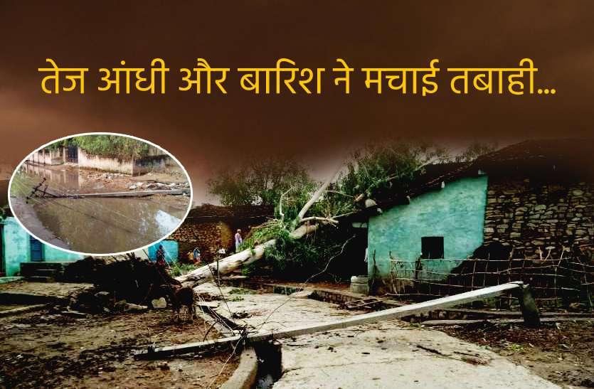Rajasthan Weather : राजस्थान में तेज आंधी-बारिश ने मचाई तबाही, दर्जनों पेड़ व पोल उखड़े, बिजली ठप, लोगों में दहशत