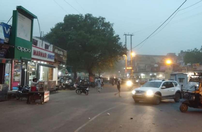 श्योपुर में चली तेज आंधी, कराहल में बूंदाबंादी