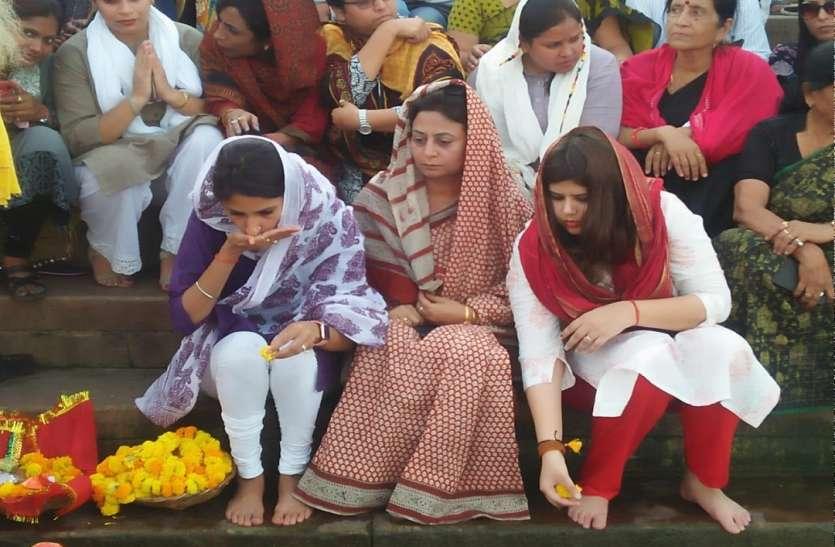 रायबरेली की कांग्रेस विधायक अदिति सिंह पहुंची वाराणसी,  महिला हिंसा के खिलाफ किया गंगा पूजन, CM योगी पर बोला हमला