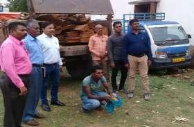 भाजपा नेता रामचंद्र कश्यप का ट्रैक्टर तस्करी के दौरान हुआ जब्त
