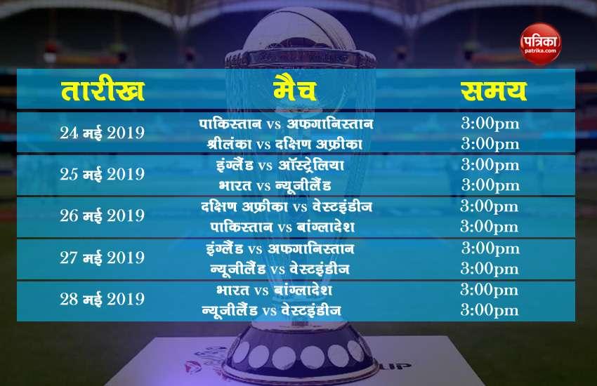 ICC cricket World Cup Practice Match