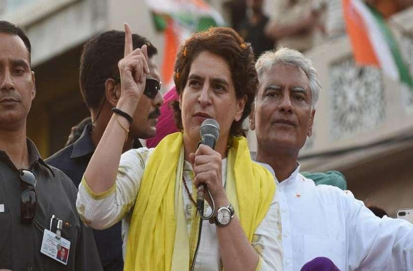 प्रियंका गांधी आज फिर पूर्वांचल में विपक्षियों पर बोलेंगी हमला, मिर्जापुर में करेंगी रोड शो