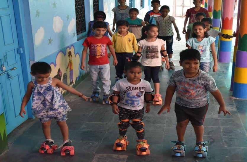 Summer camp: बच्चों में दिख रहा स्केटिंग का रोमांच