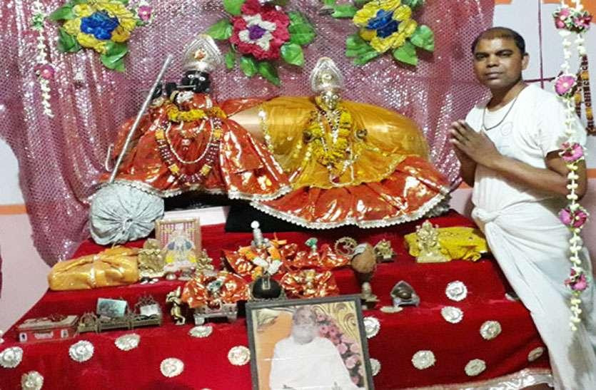 रात भर बही भजनों की सरिता, राधा-कृष्ण की मनमोहक झांकी सजाई