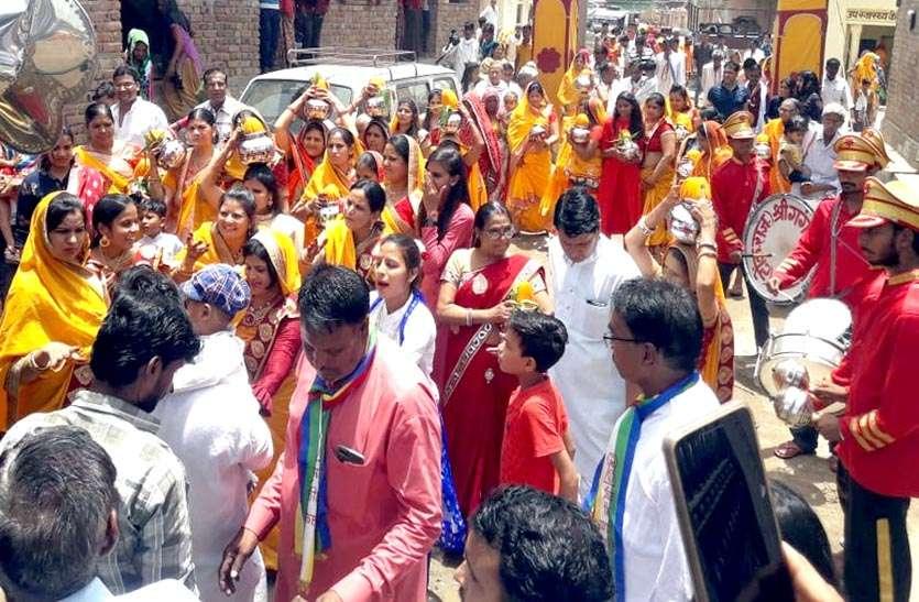 शाही अंदाज में निकली श्रीजी की शोभायात्रा, नवनिर्मित वेदी पर विराजित हुए भगवान