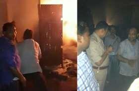 जामा मस्जिद मार्केट में आग बुझाने के लिए जान पर खेल गया पत्रकार, देखें Video