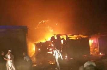 जामा मस्जिद आग के आगोश में यूं घिरती गई, तस्वीरें देख दहल जायेगा दिल