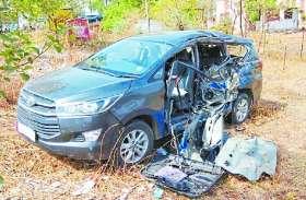 कार को ट्रक ने मारी टक्कर, सात घायल