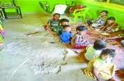 चिलचिलाती धूप में भी लग रहे है आंगनबाड़ी केंद्र, गर्मी में झुलस रहे बच्चे