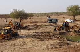 अमृतं जलम् अभियान के तहत गड़ीसर के आगोर में 500 बीघा क्षेत्र मलबा और झाडिय़ों से मुक्त