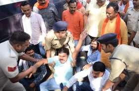 मुख्यमंत्री के खिलाफ चुनाव लड़ रहे भाजपा प्रत्याशी गिरफ्तार