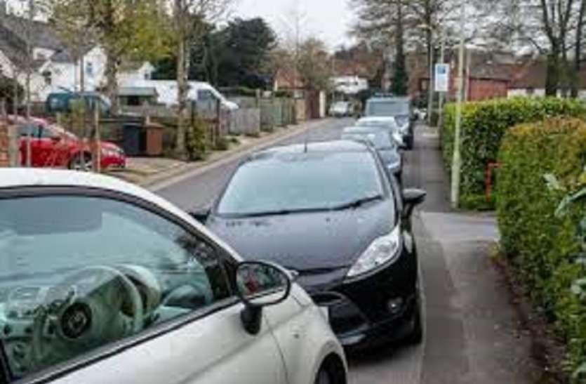 अवैध पार्र्किंग के खिलाफ थाने का अभियान
